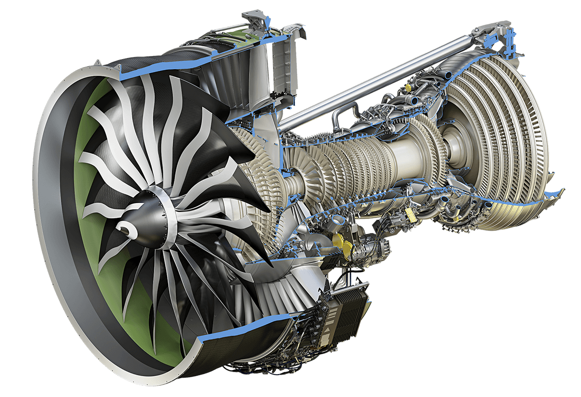 Ge9x Commercial Aircraft Engine Ge Aviation Cfm56 Diagram Cutaway